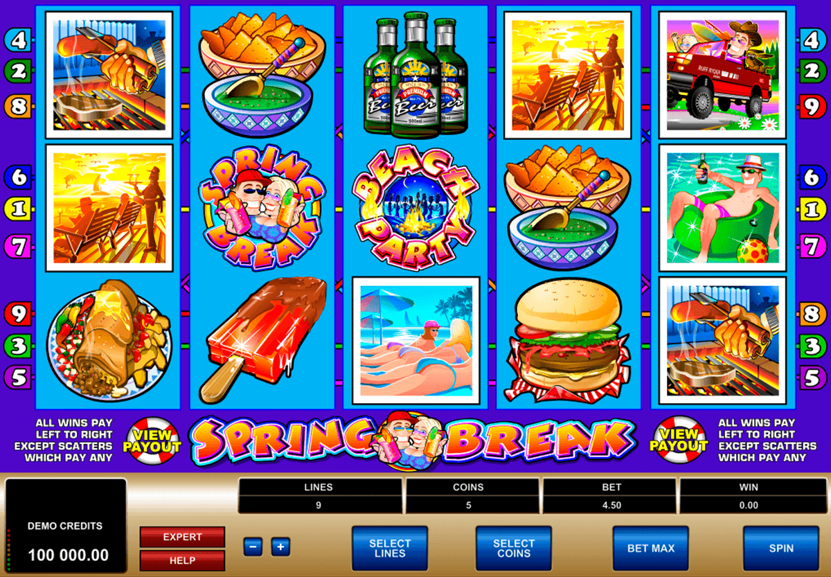 spring break microgaming spielautomaten