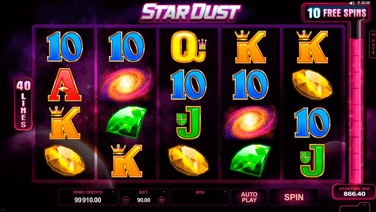 stardust microgaming spielautomaten
