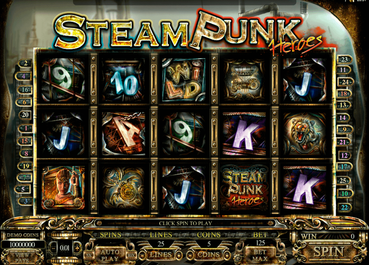 steam punk heroes microgaming spielautomaten