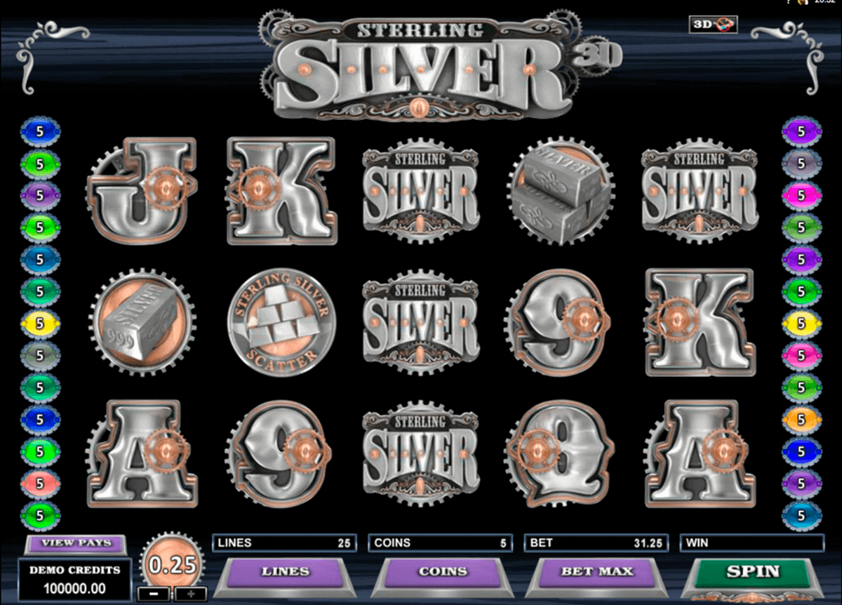 sterling silver 3d microgaming spielautomaten