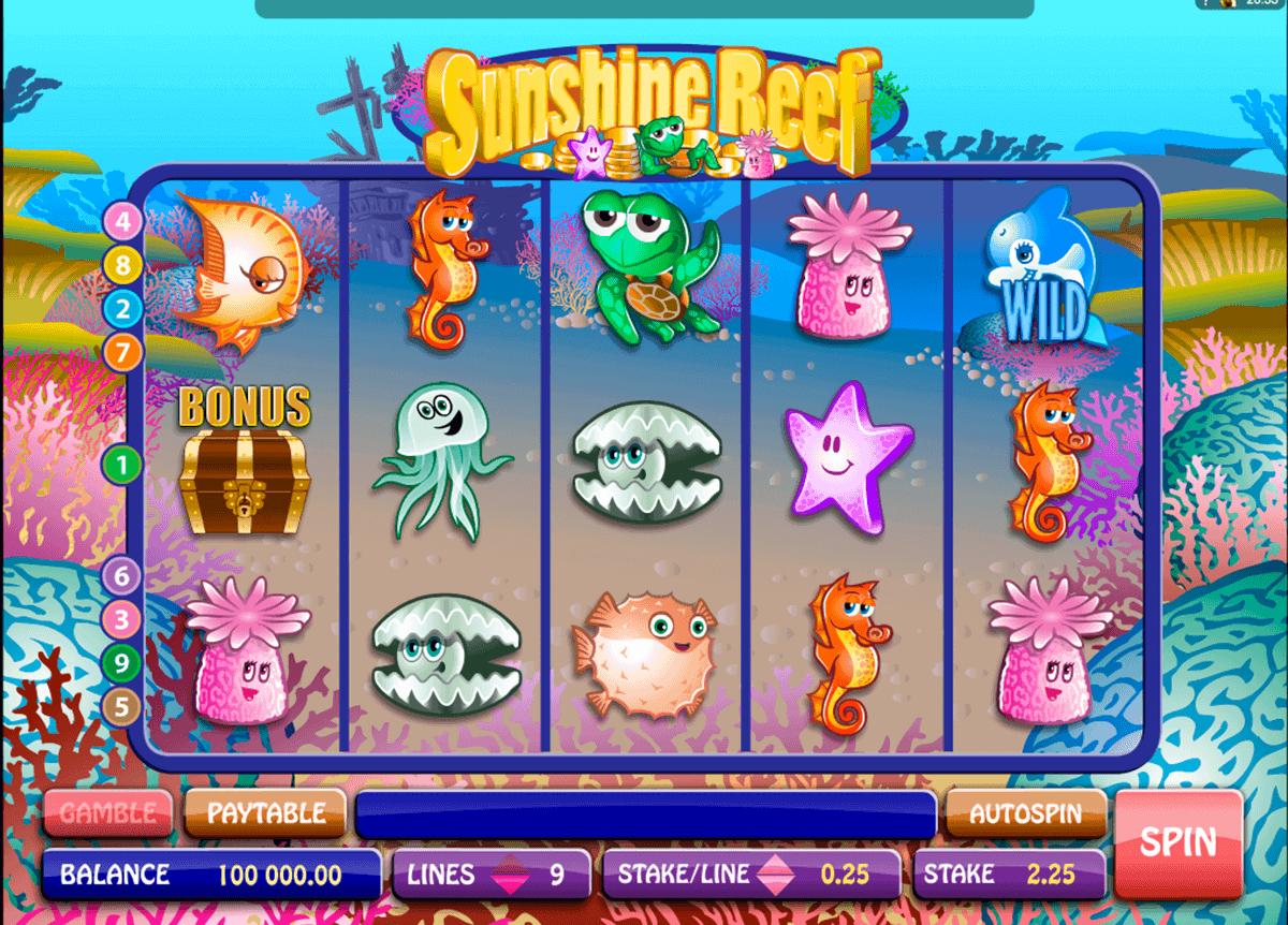 sunshine reef microgaming spielautomaten