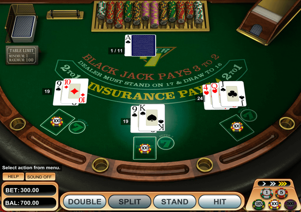 super 7 blackjack betsoft blackjack