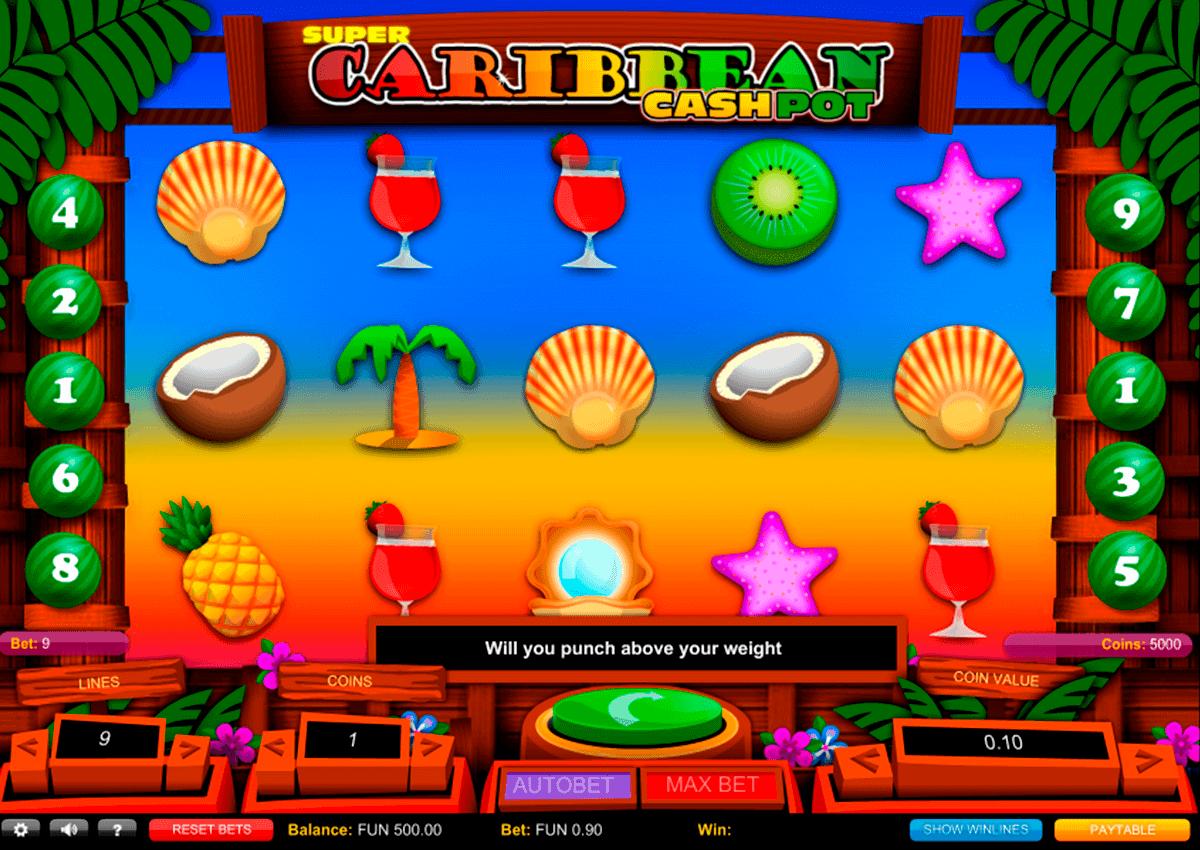 super caribbean cashpot 1x2gaming spielautomaten