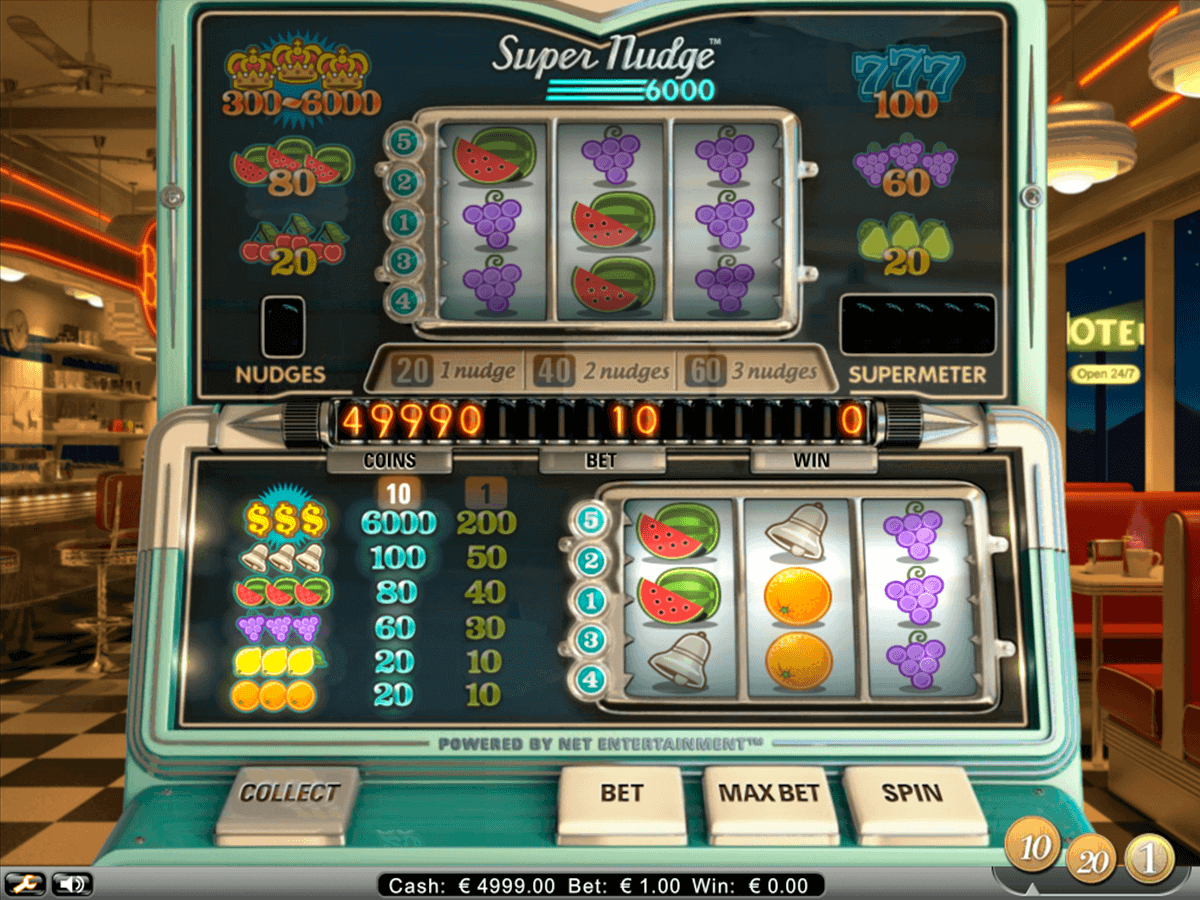 super nudge 6000 netent spielautomaten