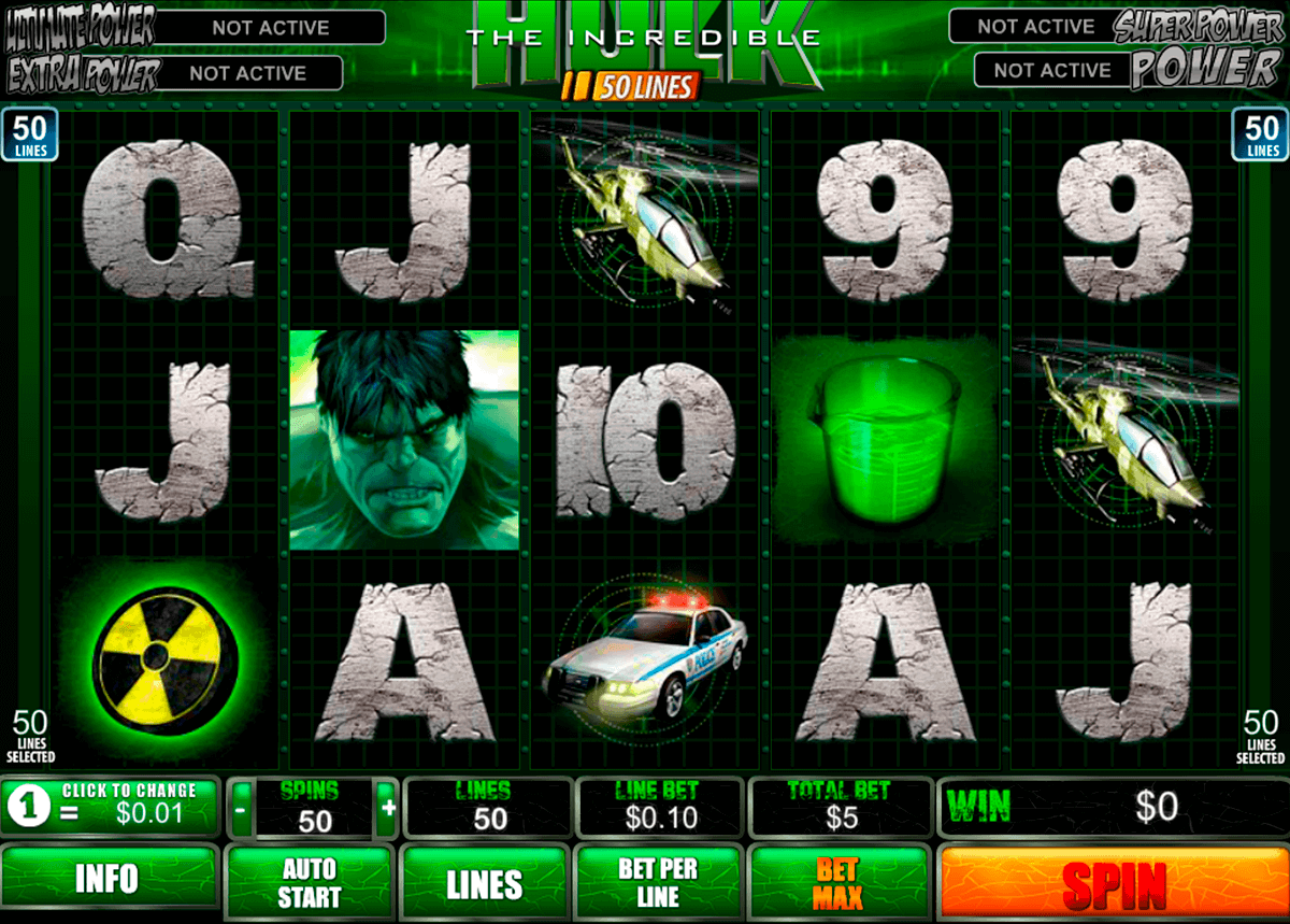 the incredible hulk 50 lines playtech spielautomaten1