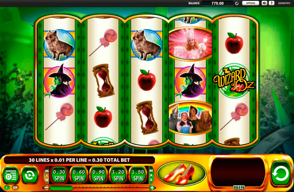 Wfizard of Oz Ruby Slippers Slot Spel - Spela Gratis Online