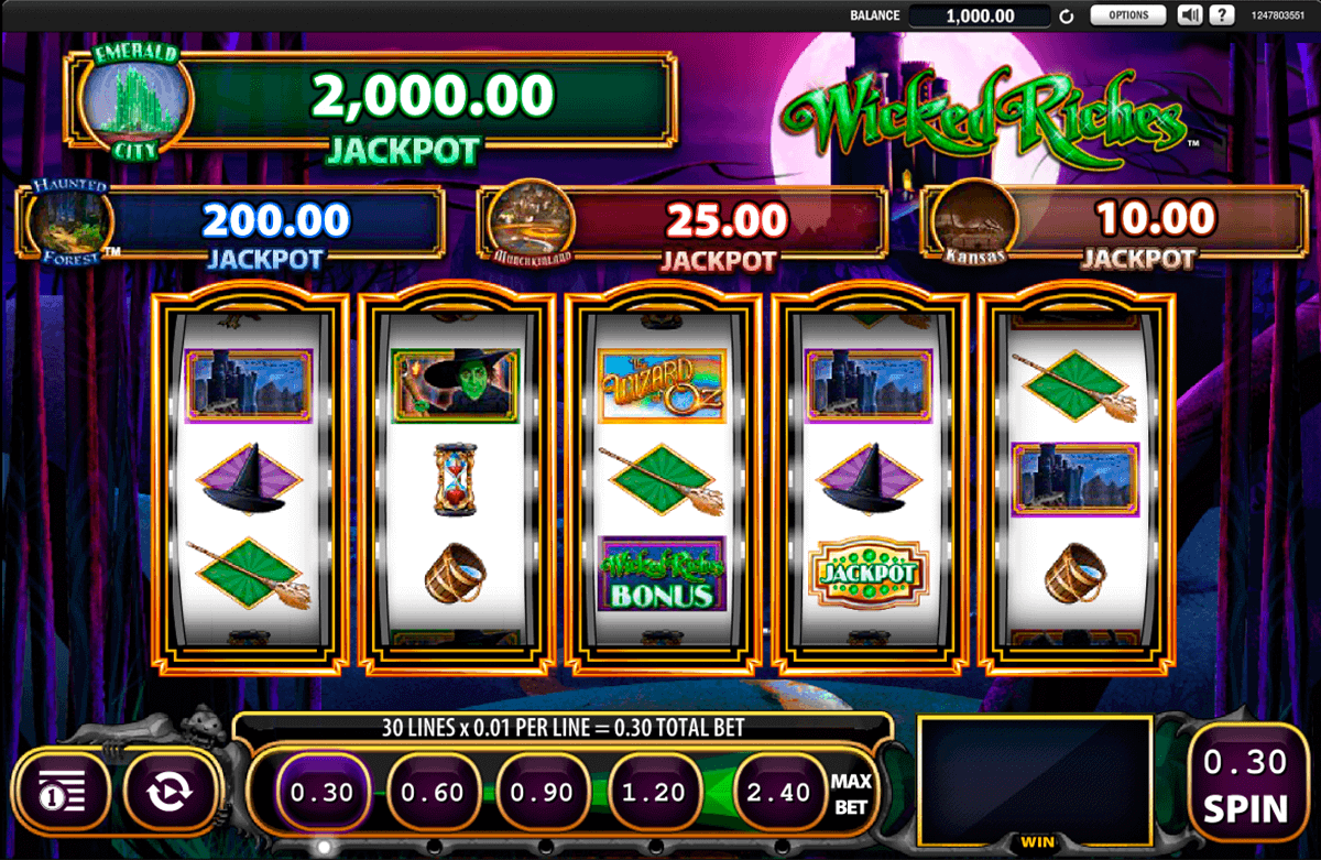 the wizard of oz wicked riches wms spielautomaten