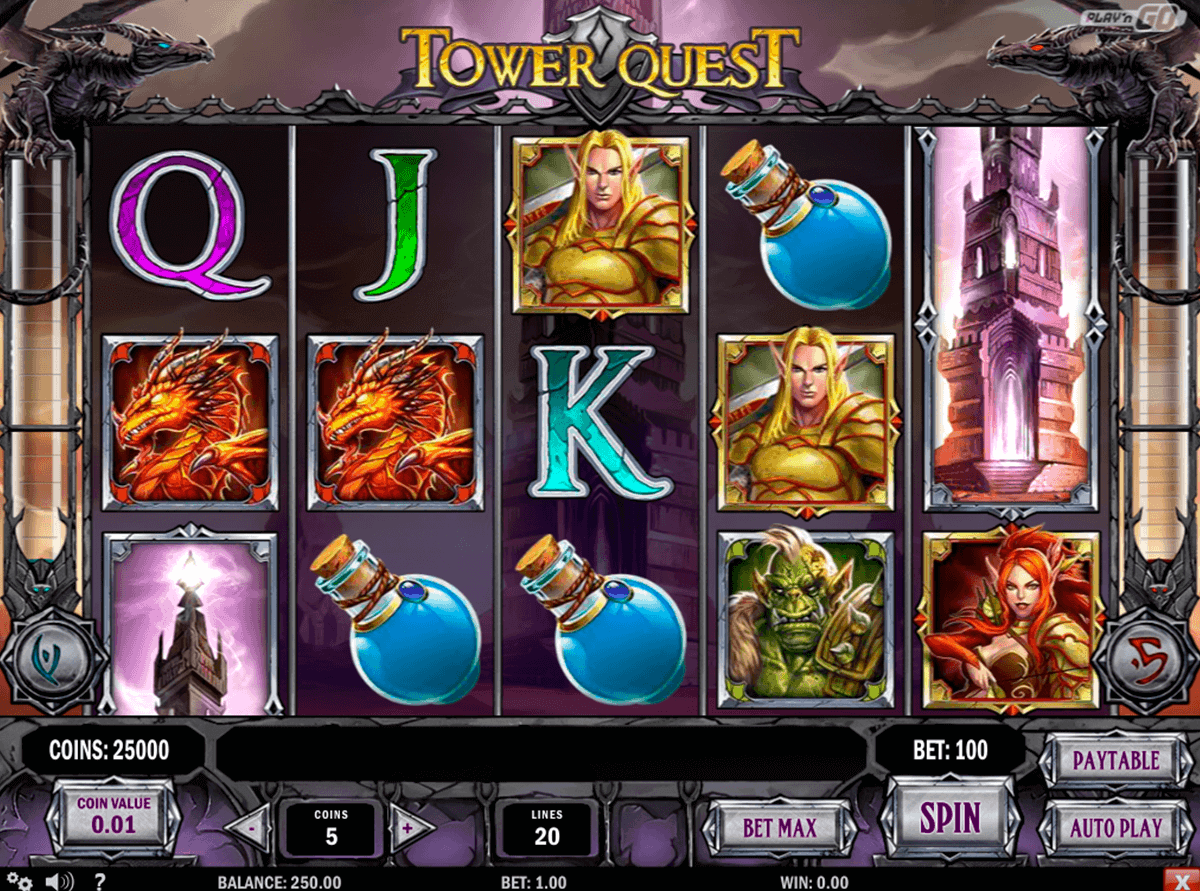 tower quest playn go spielautomaten
