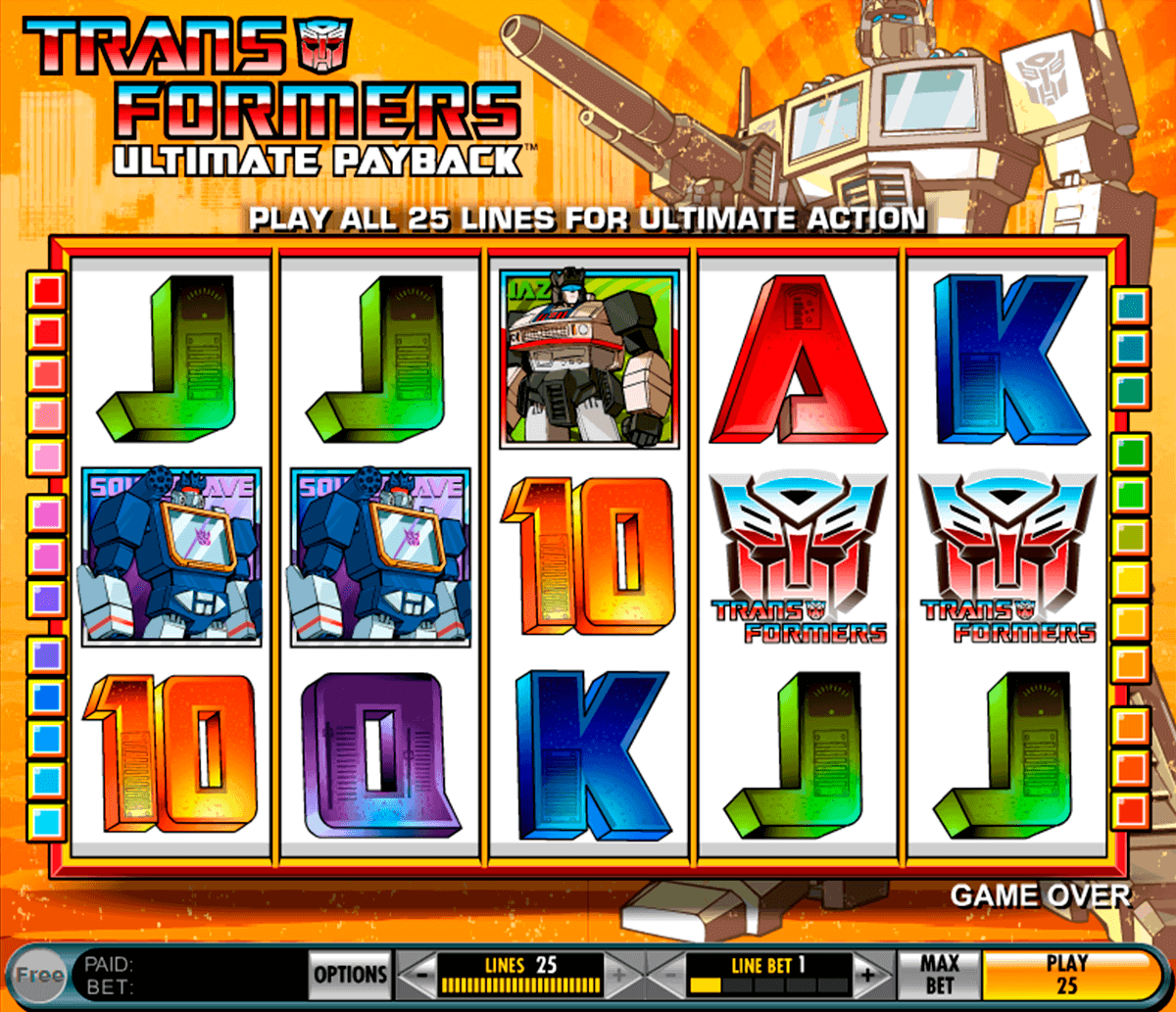 transformers ultimate payback igt spielautomaten