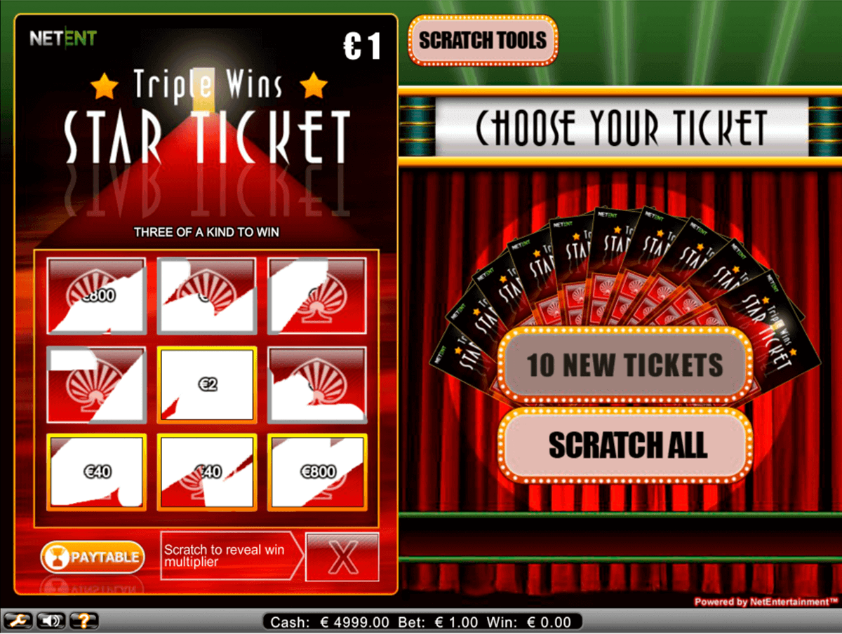 triple wins star ticket netent rubenllose
