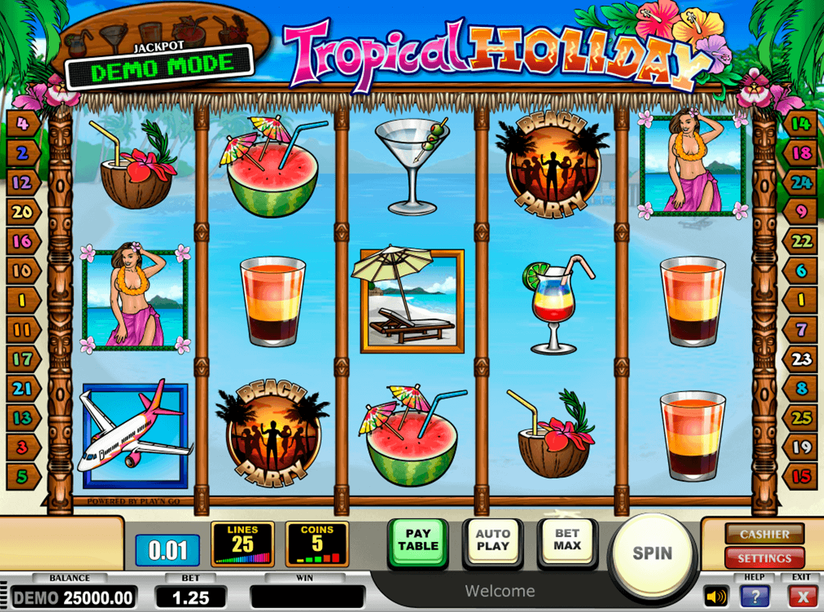 tropical holiday playn go spielautomaten