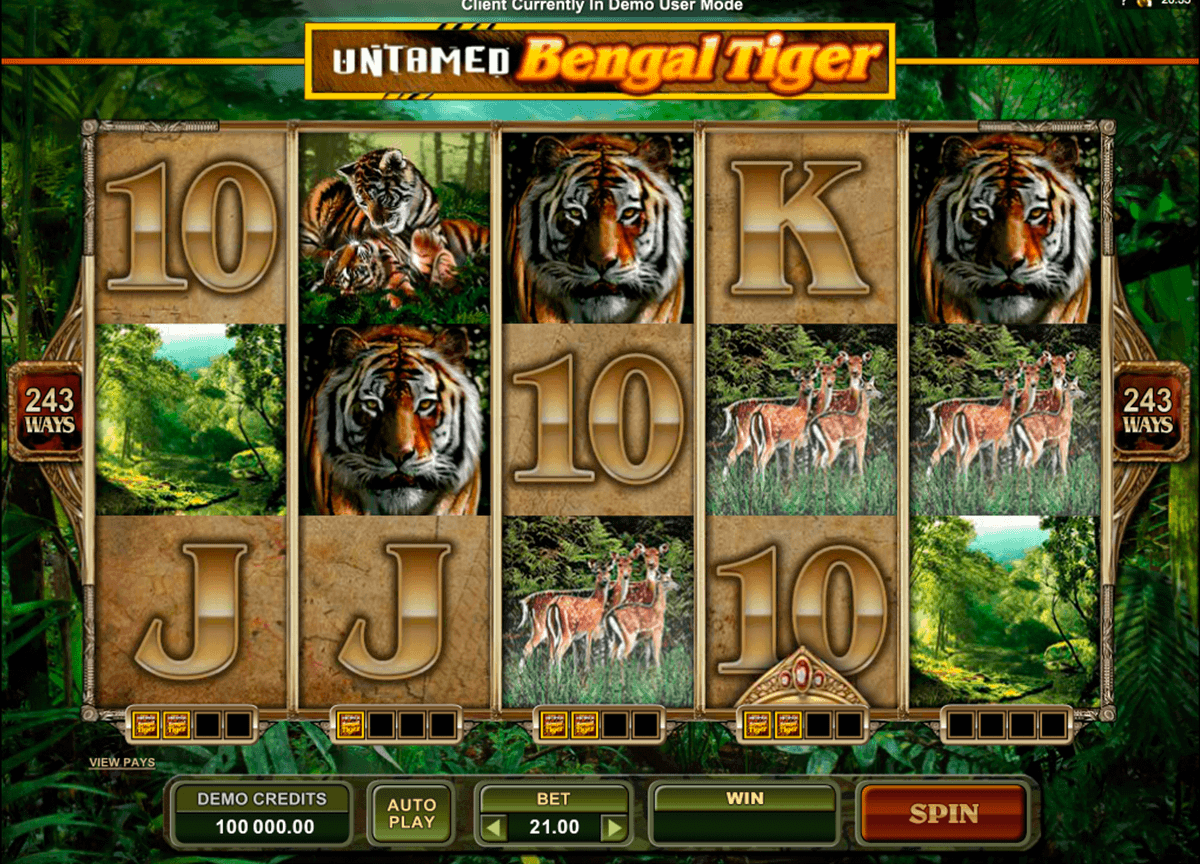 untamed bengal tiger microgaming spielautomaten