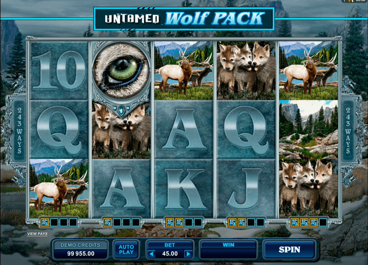 untamed wolf pack microgaming spielautomaten