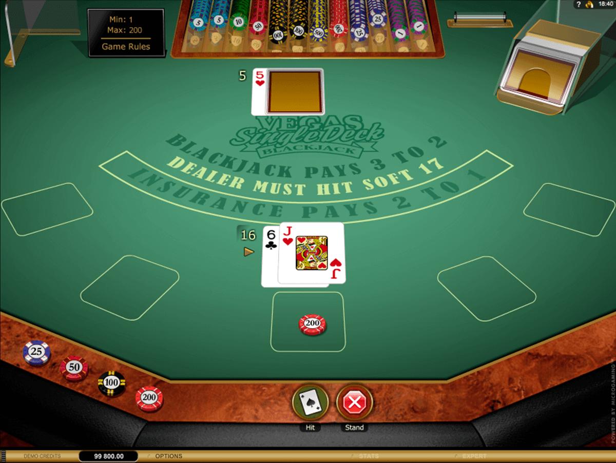 vegas single deck blackjack gold series microgaming blackjack