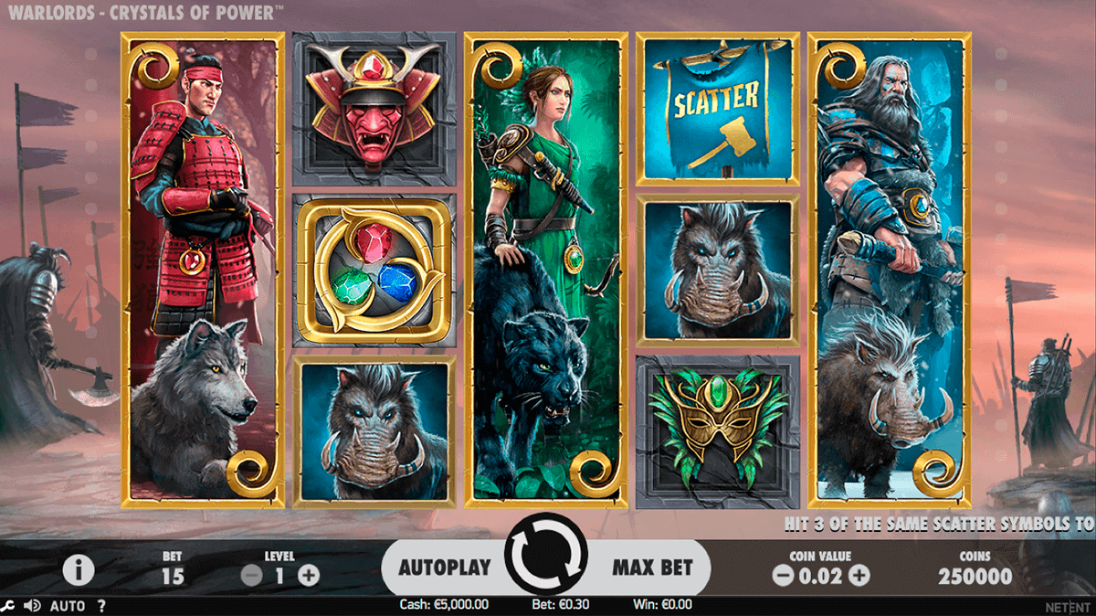 warlords crystals of power netent spielautomaten