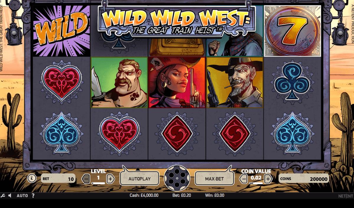 wild wild west the great train heist netent spielautomaten