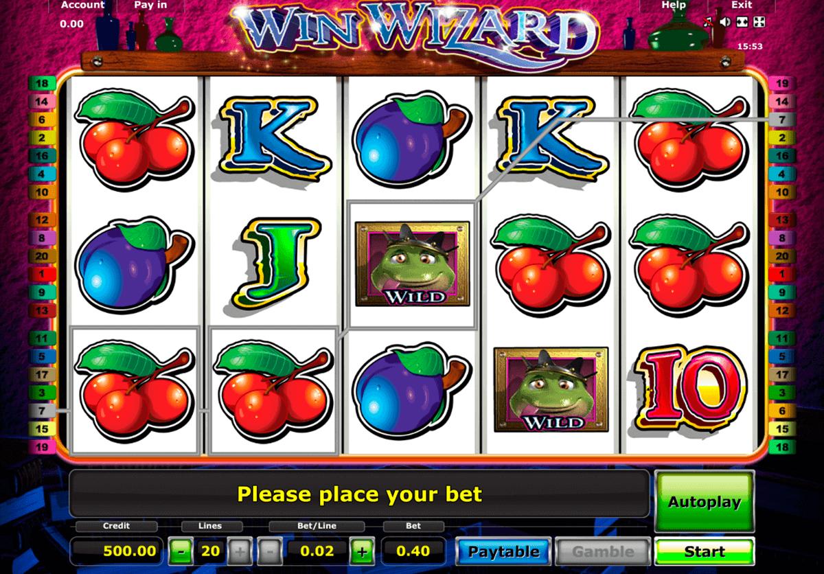 win wizard novomatic spielautomaten