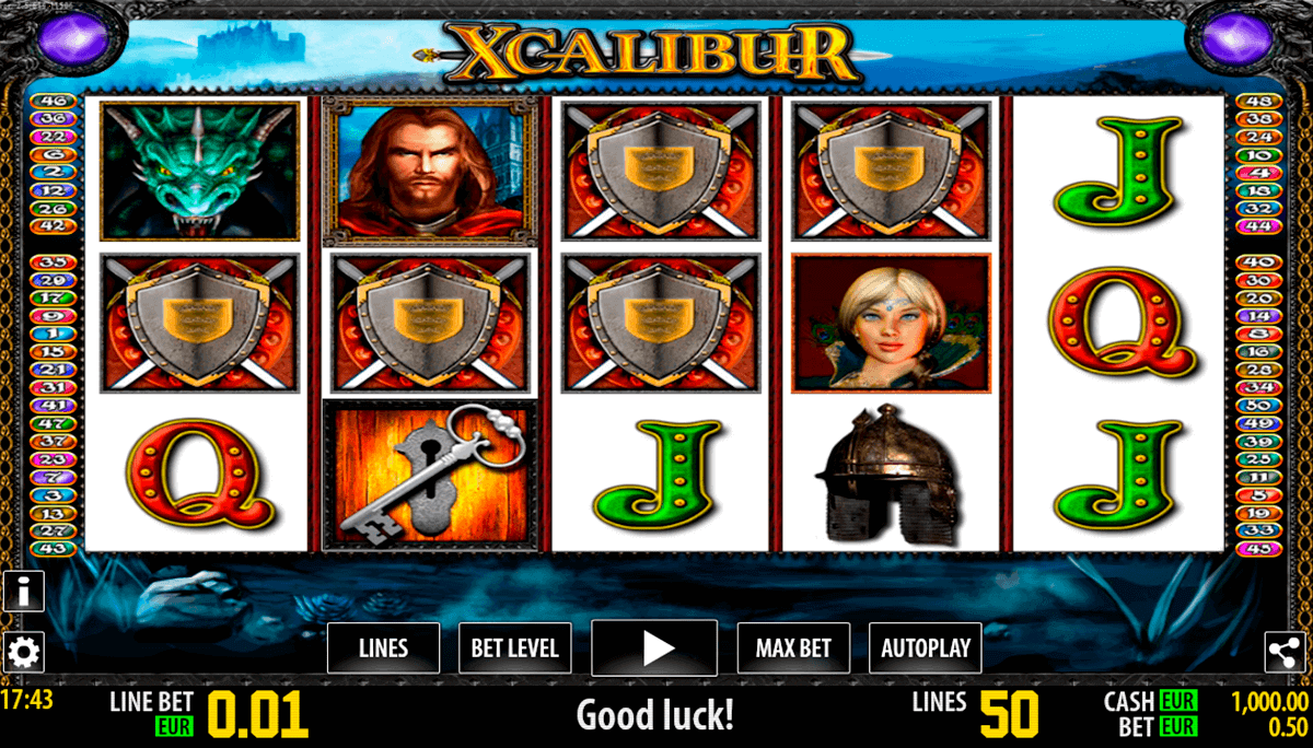xcalibur hd world match spielautomaten