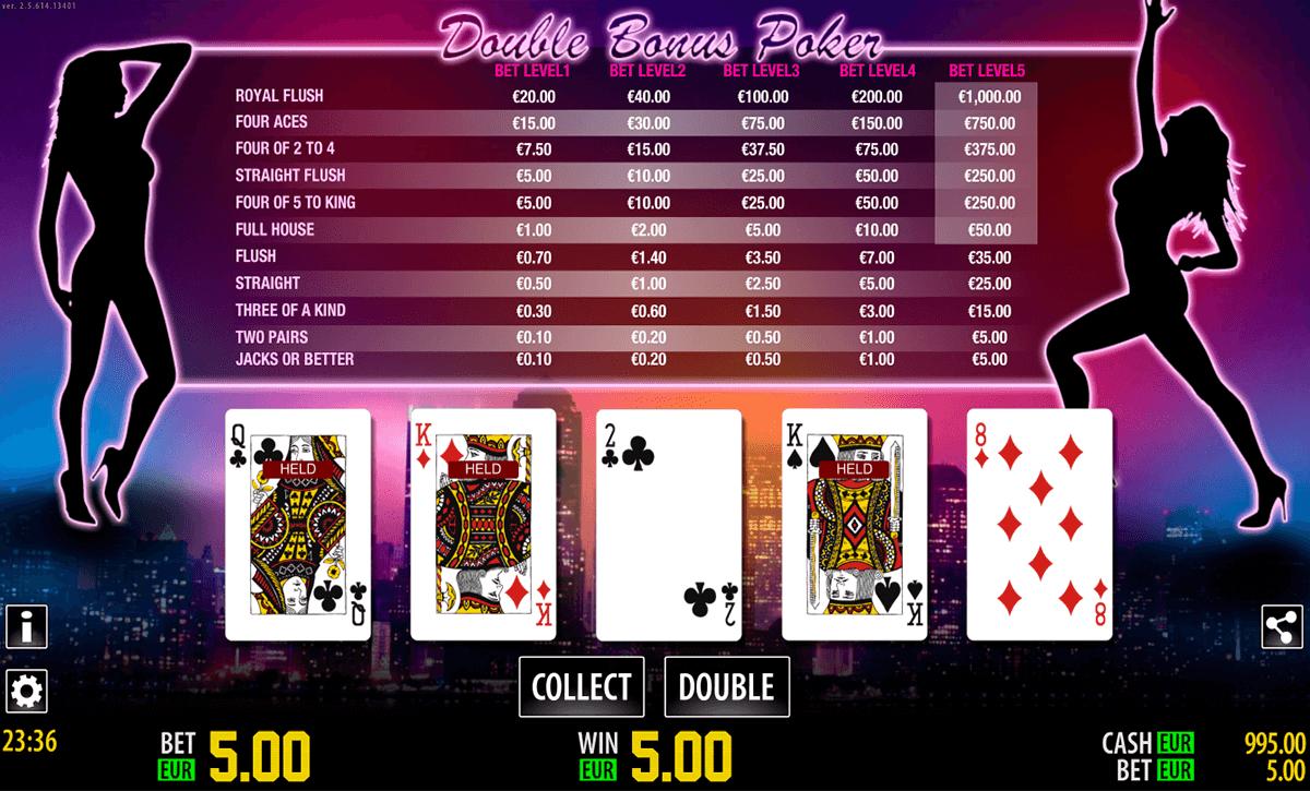 double bonus poker hd world match