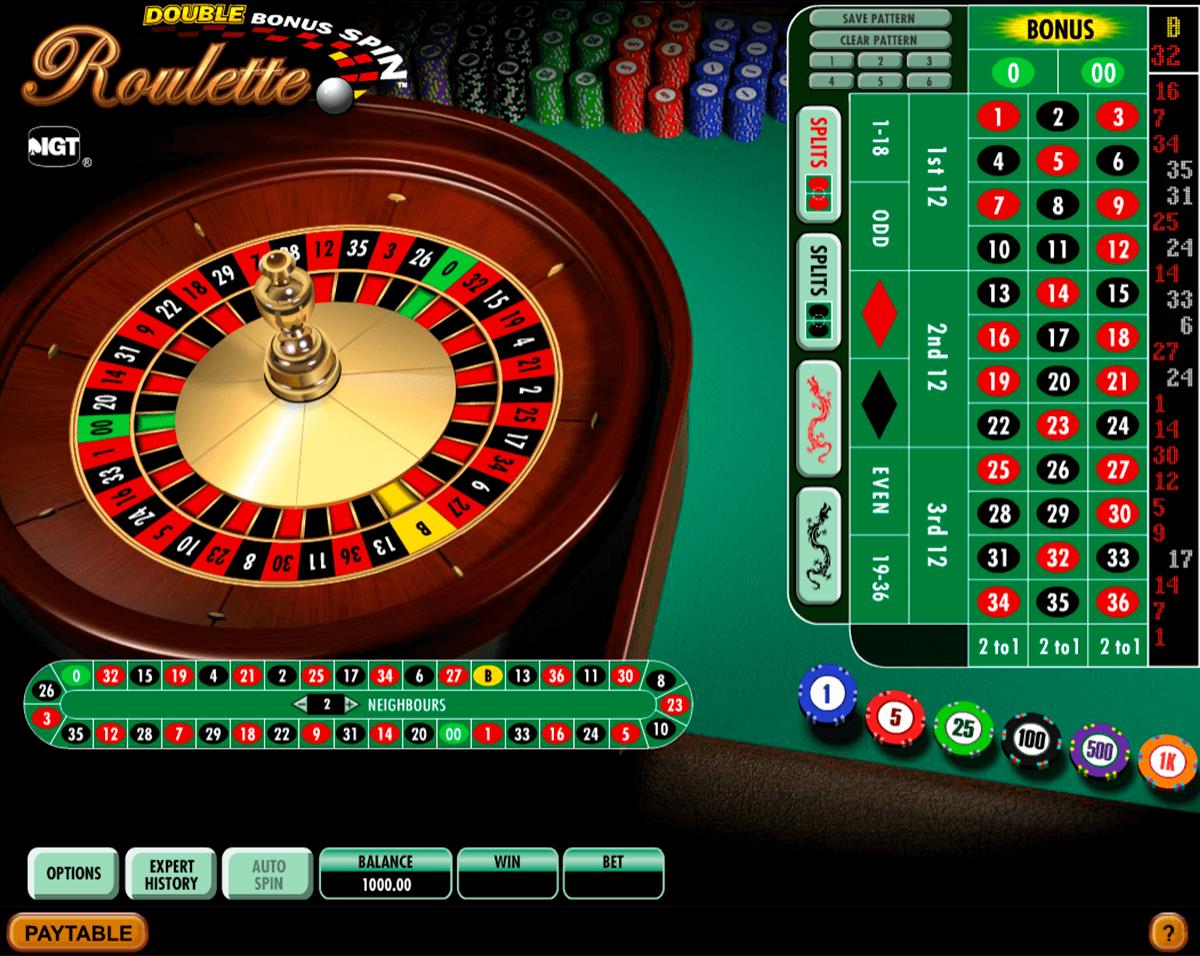 double bonus spin roulette igt