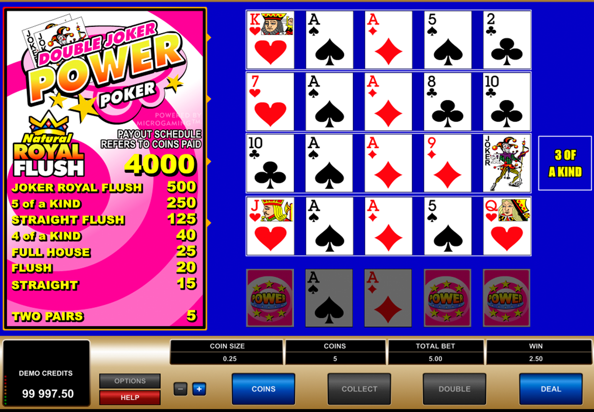 double joker 4 play power poker microgaming