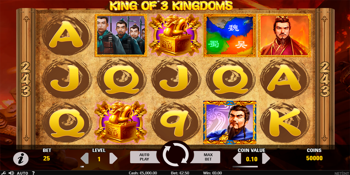king of 3 kingdoms netent