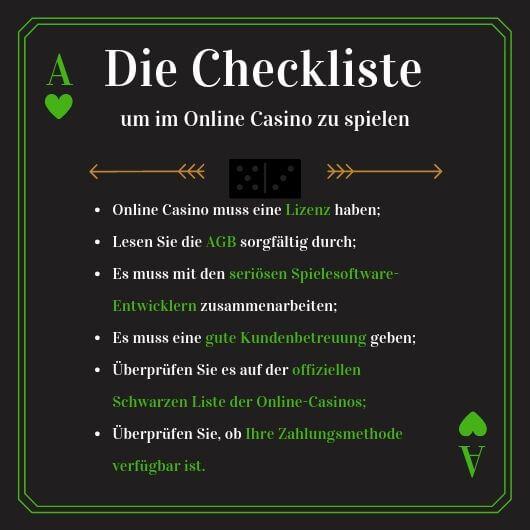online casinos checkliste
