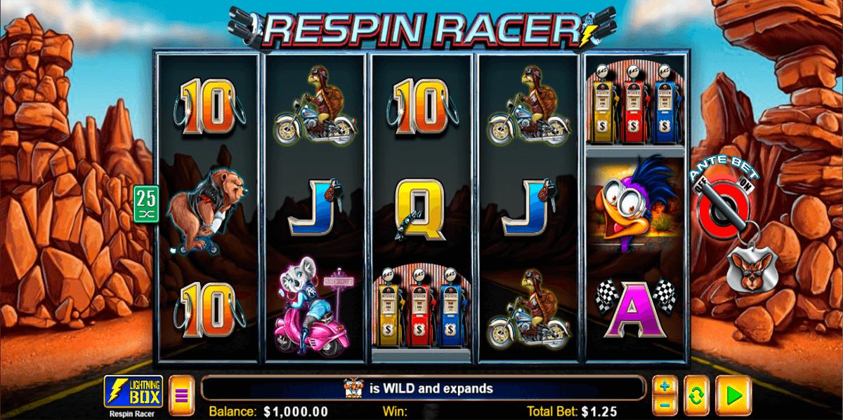 respin racer lightning box