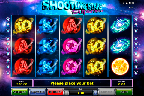 shooting stars supernova novomatic