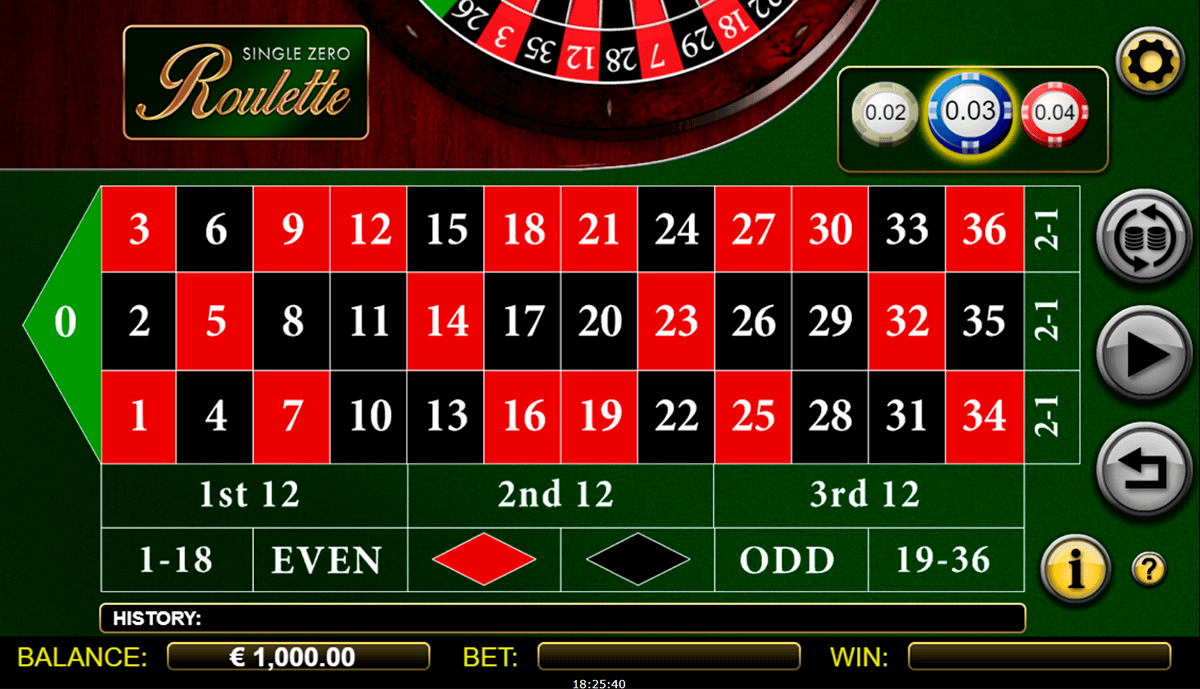 single zero roulette nextgen gaming