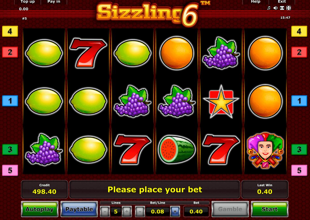 sizzling 6 novomatic