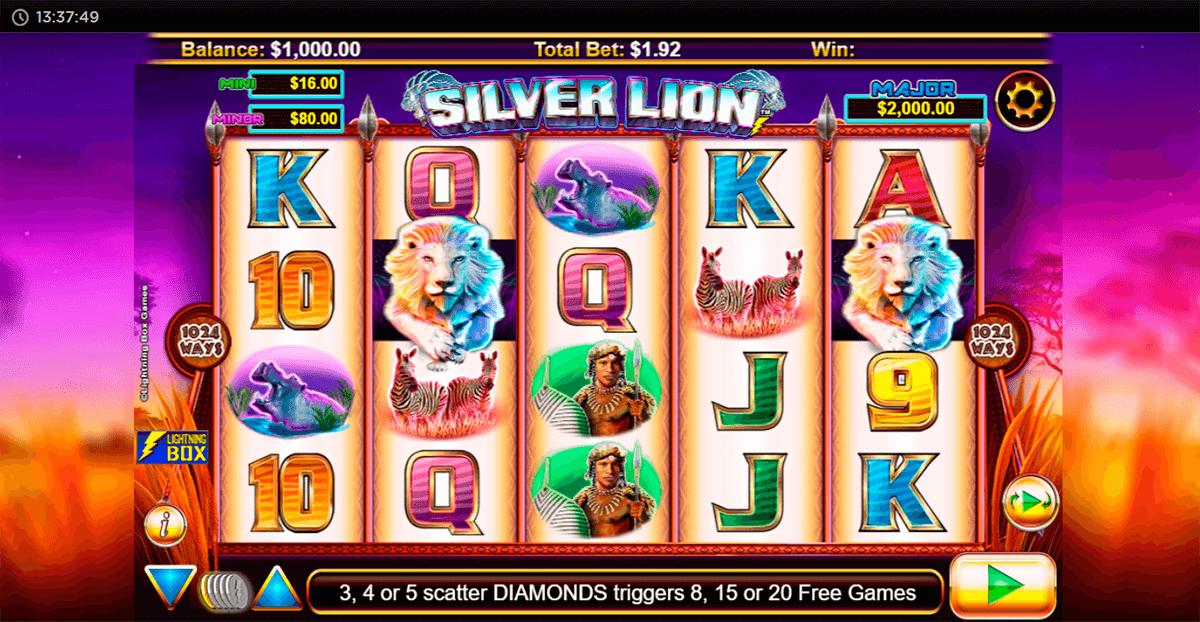 stellar jackpots with silver lion lightning box