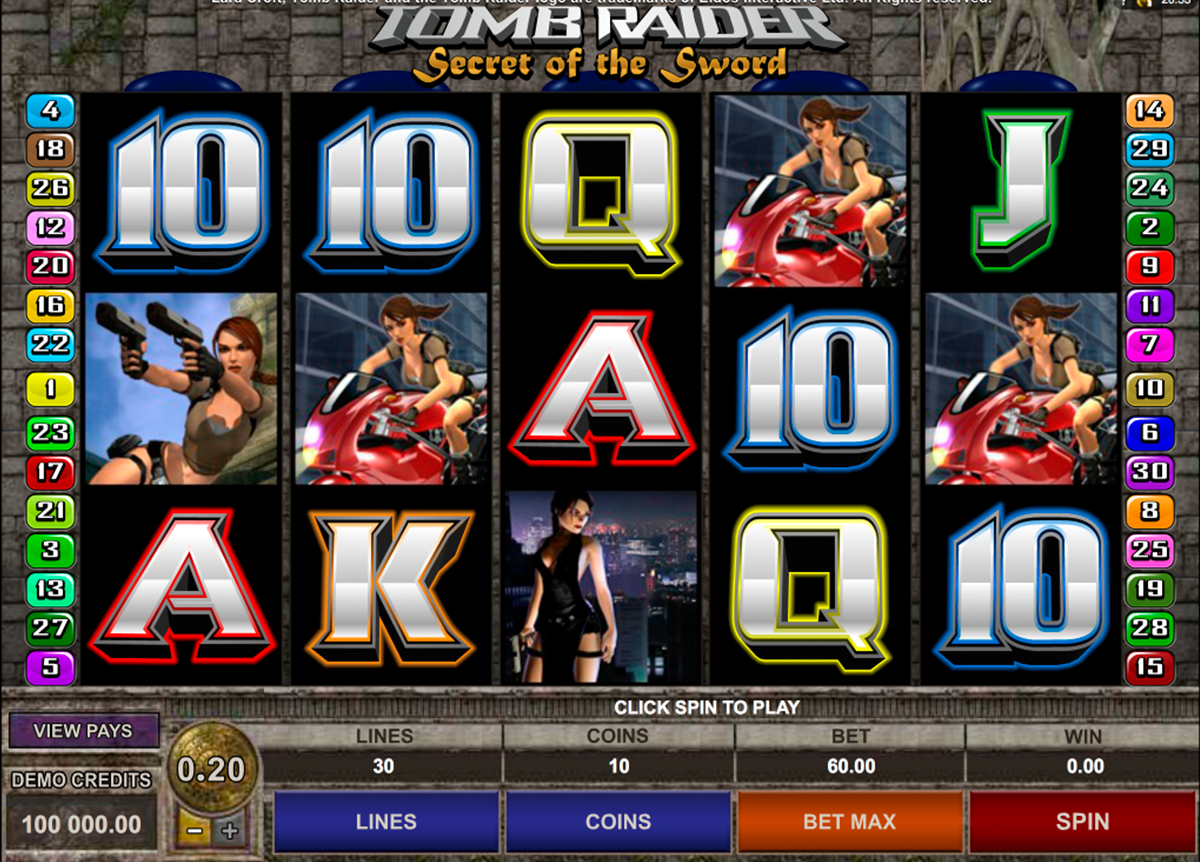 tomb raider ii microgaming