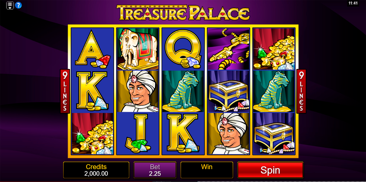 treasure palace microgaming